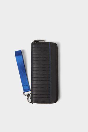 Zara Xl wallet with blue details