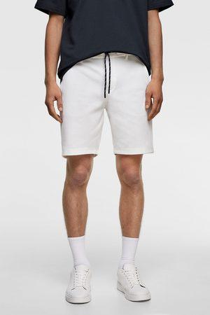 Zara Men Bermudas - Contrast piqué bermuda shorts