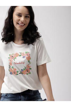 Mast & Harbour Women Printed Round Neck T-shirt