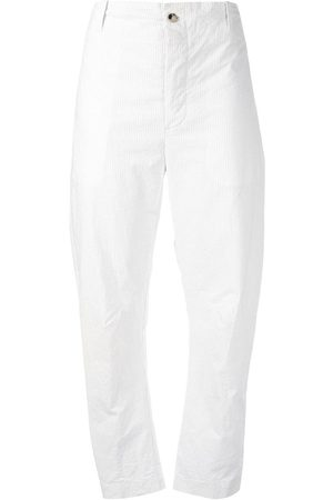 FORME D'EXPRESSION Straight ankle striped trousers