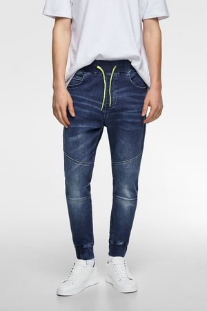 Zara Combined soft denim joggers
