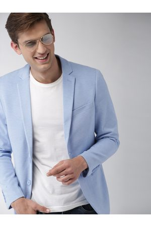 Mast & Harbour Men Solid Single-Breasted Casual Blazer