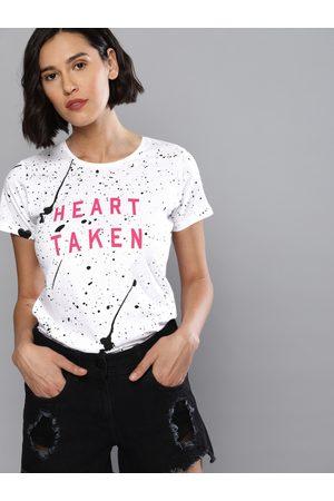 Kook N Keech Women Printed Round Neck T-shirt