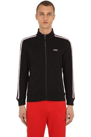 43bec8f7 Logo Zip-up Cotton Blend Knit Sweatshirt