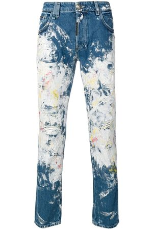 Philipp Plein Men Slim - Painted super straight-cut jeans