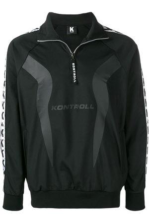 Kappa Men Jumpers - Logo stripe pullover track jacket