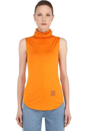 Loewe Silk Blend Jersey Turtleneck Top
