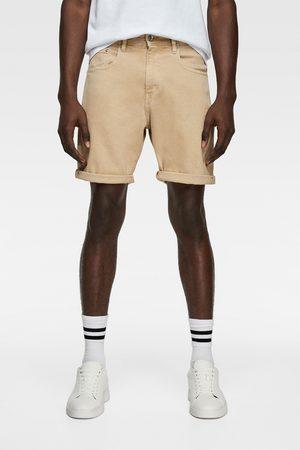 Zara Coloured denim bermuda shorts