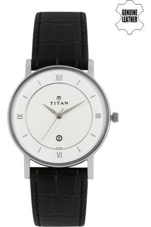 Titan Men White Dial Watch NF9162SL04