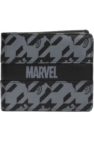 Kook N Keech Men Black & Grey Printed Two Fold Wallet