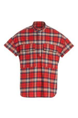 FEAR OF GOD Sixth Flannel Henley Short-Sleeve Shirt