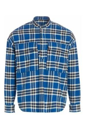 FEAR OF GOD Sixth Flannel Henley Long-Sleeve Pullover