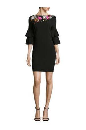 Trina Turk Leona Bell-Sleeve Sheath Dress