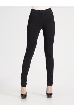 AKRIS Zip-Front Jersey Knit Leggings