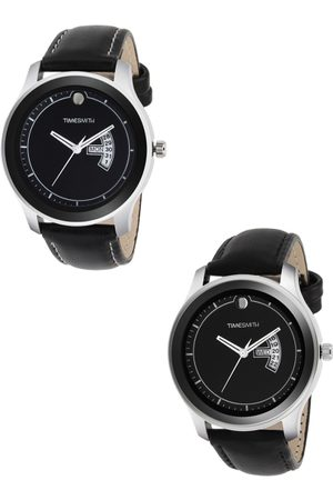 TIMESMITH Men Set Of 2 Leather Analogue Watches TSC-004-011x