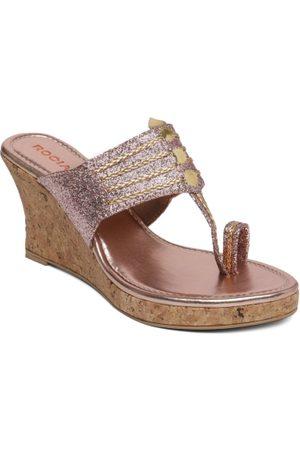 Rocia Women Platform Sandals - Women Rose Gold Solid Sandals