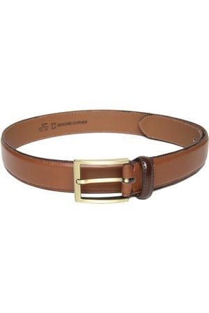 Mast & Harbour Men Brown Solid Leather Belt