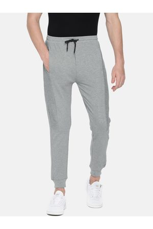Pepe Jeans Men Grey Melange Regular Fit Solid Joggers