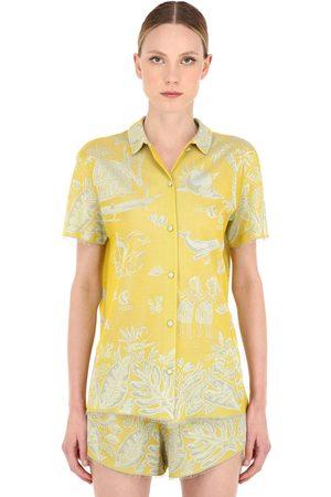 Alanui Hawaiian Dream Jacquard Shirt