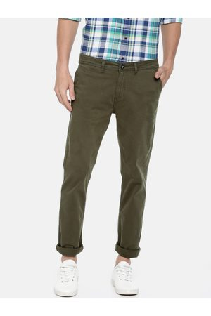Pepe Jeans Men Green Slim Fit Solid Chinos