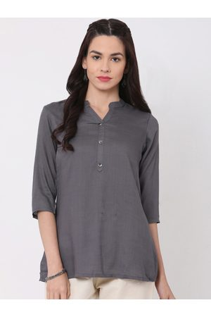 ALENA Women Grey Solid Tunic