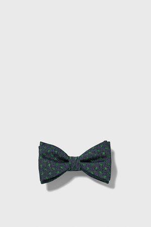 Zara Textured paisley bow tie