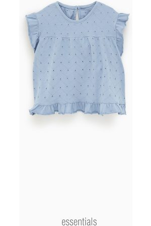 Zara Embroidered blouse-style t-shirt