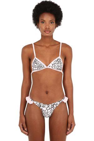 JUST SAUCED Mimi Leopard Print Bikini Top