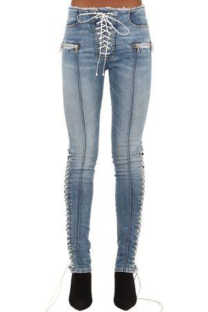 UNRAVEL Women Skinny - Skinny Cotton Blend Denim Jeans