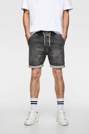 Zara Soft denim bermuda shorts