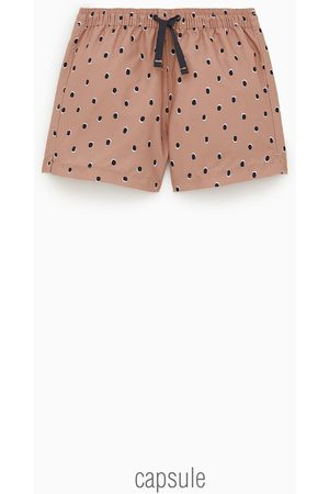 Zara Polka dot bermuda swim shorts