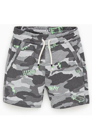 Zara Camouflage plush jersey bermuda shorts