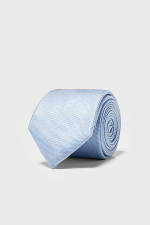 Zara Wide textured weave tie