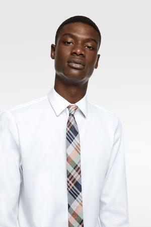 Zara Check jacquard skinny tie