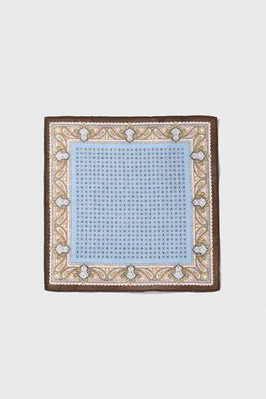 Zara Contrast print pocket square