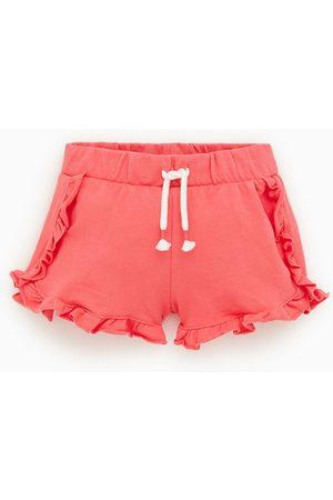 Zara Ruffled plush bermuda shorts
