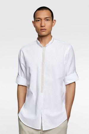 Zara Men Shirts - Rustic shirt with contrast trims