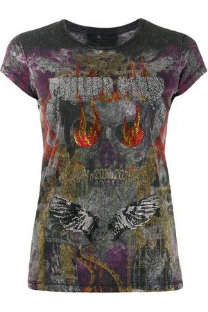 Philipp Plein Women Short Sleeve - Rhinestone embellished T-shirt