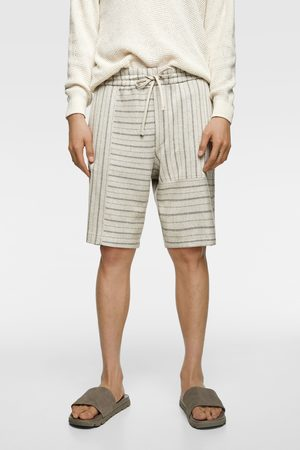 Zara Striped rustic bermudas