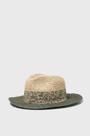 Zara Two-tone textured weave hat
