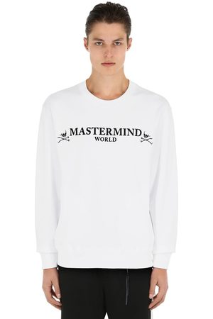 MASTERMIND Logo Rubber Print Cotton Sweatshirt