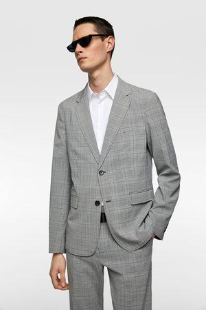 Zara Washable check suit blazer
