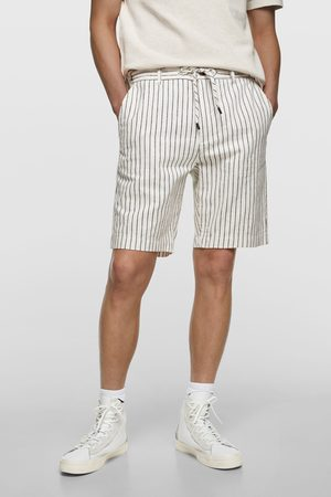 Zara Men Bermudas - Striped rustic bermudas