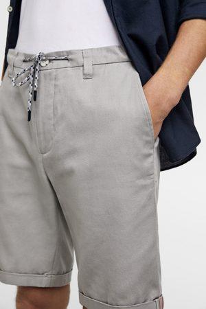 Zara Men Bermudas - Drawstring bermuda shorts