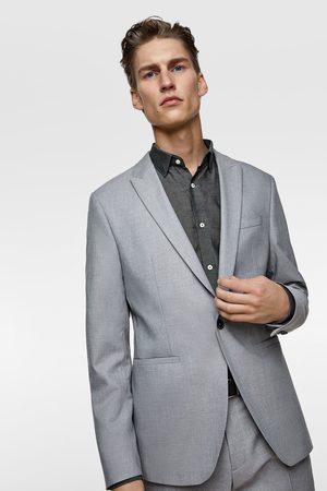 Zara Men Blazers - Textured panama suit blazer