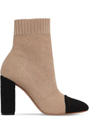 Gianvito Rossi 85mm Knit Bouclé Ankle Boots