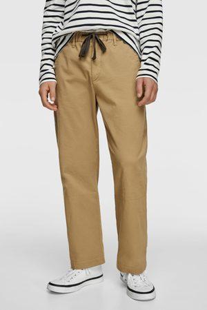 Zara Men Wide Leg Trousers - Wide-leg trousers with turn-up hems