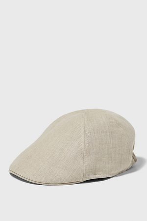 Zara Men Caps - Linen cap