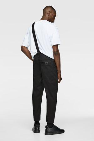 Zara Men Wide Leg Trousers - Wide-leg trousers with brace