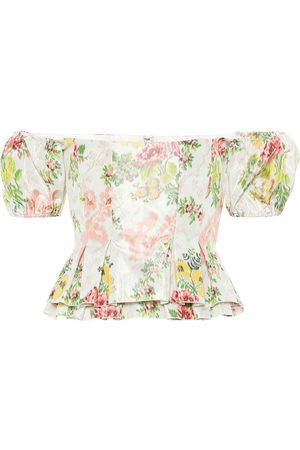 BROCK COLLECTION Exclusive to Mytheresa – Oarsman floral silk-blend top